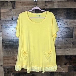 Logo lounge yellow tunic top
